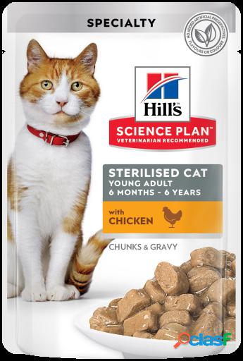 Hill's science plan esterilizado de pollo 12x85 gr