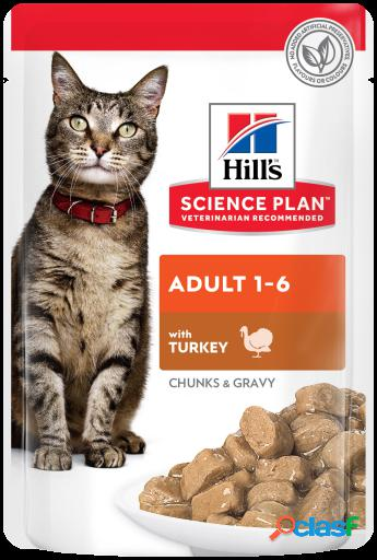 Hill's Science Plan Adult de Pavo en Pouche 12x85 gr