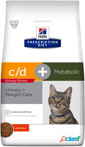 Hill's pienso prescription feline c/d urinary stress + metabolic 4 kg