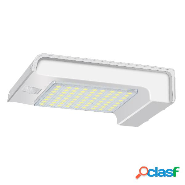 72 led solar power gutter security wall light movimiento sensor lámpara apliques al aire libre
