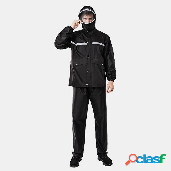 Impermeable rain pantalones traje hombre doble grueso impermeable moda split riding single chubasquero