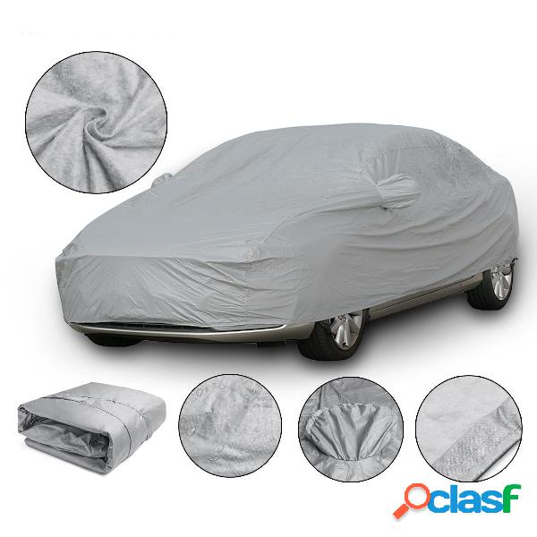 Xl 4.9x1.8x1.5m universal full car cover cotton waterproof protección uv transpirable al aire libre