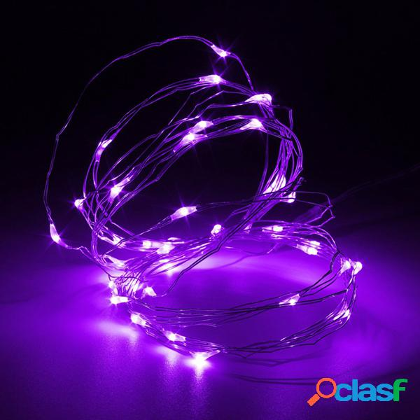 5m 50 led de alambre de cobre fairy cadena de luz batería powered waterproof xmas party decor