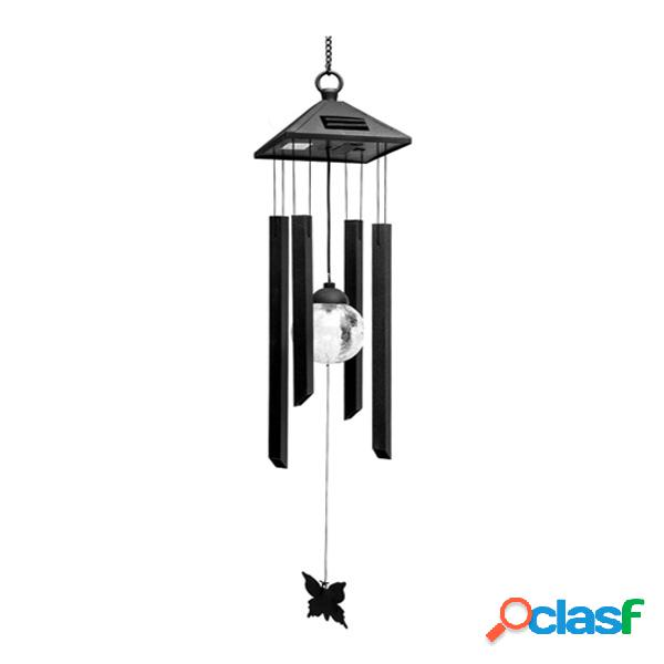 Solar power wind chime luz led colorida garden courtyard balcón decoración lámpara