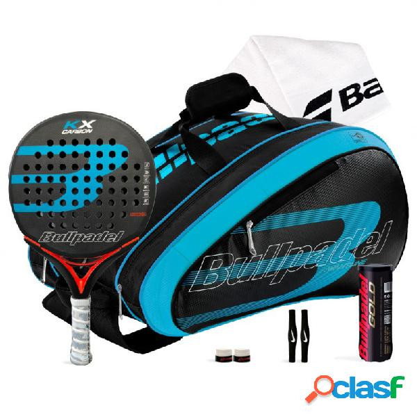 Pack Bullpadel KX Carbon Blue + Paletero 18002 Azul
