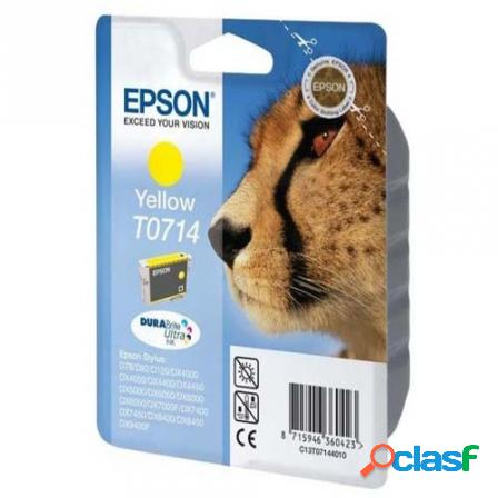 Cartucho tinta amarillo epson t0714 - 5.5 ml - guepardo - compatible s