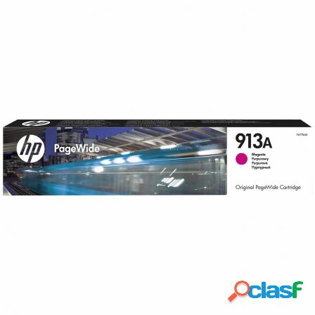 Cartucho magenta hp pagewide 913a - 3000 paginas - para pagewide pro 4