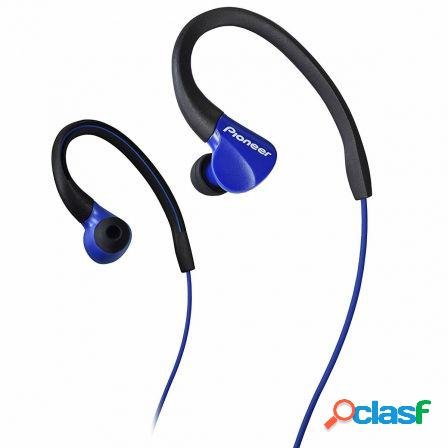 Auriculares deportivos pioneer se-e3-l azules - drivers 10mm - 8-22000