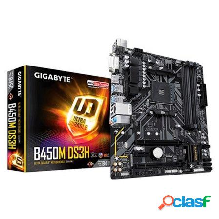 Placa base gigabyte b450m ds3h - socket am4 soporta amd ryzen 3/5/7 -