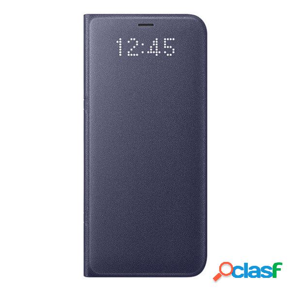 Funda samsung led view case morada para galaxy s8 ef-ng950pvegww
