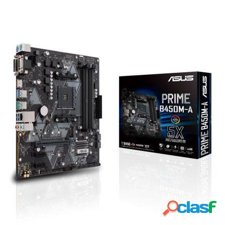 Placa base asus prime b450m-a - socket am4 - chipset amd b450 - 4*dimm