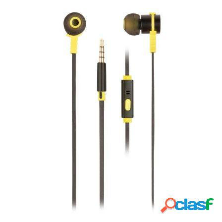 Auriculares intrauditivos ngs cross rally black - drivers 9mm - tecno