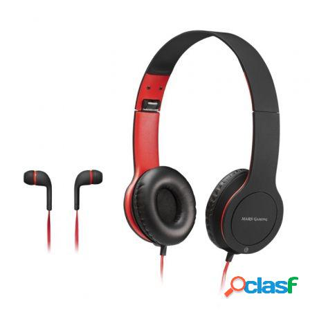 Pack combo 2 en 1 mars gaming mhcx - auriculares con microfono in-ear