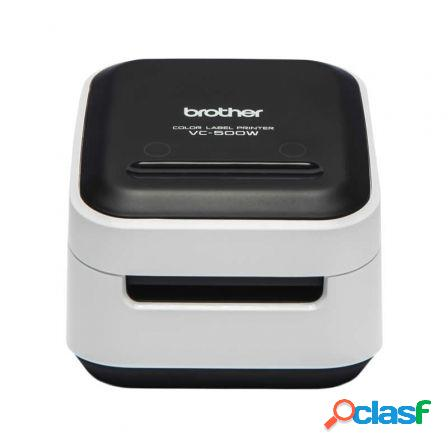 Impresora de etiquetas color brother wifi vc-500w - tecnologia zero in