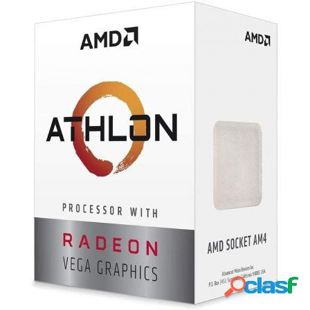 Procesador amd athlon 3000g - 3.5ghz - socket am4 - grafica integrada