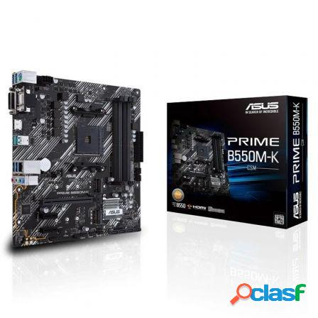 Placa base asus prime b550m-k - socket am4 soporta amd ryzen 3rd gen -