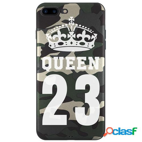 Iphone 7 plus - funda militar queen con el número que quieras