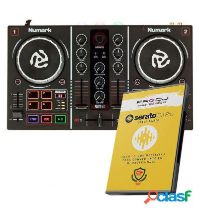 Numark party mix + curso online serato dj pro