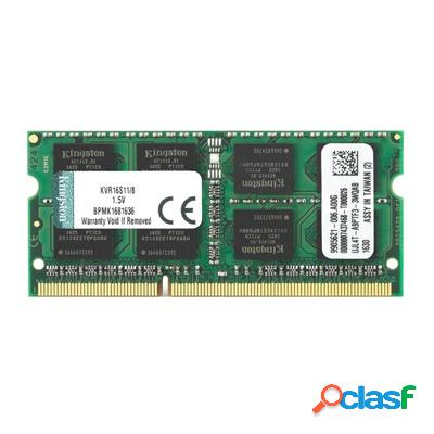 Kingston kvr16s11/8 sodim ddr3 8gb 1600mhz, original de la marca kingston