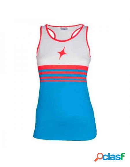 Top star vie passing 2018 azul/rojo - ropa de padel hombre