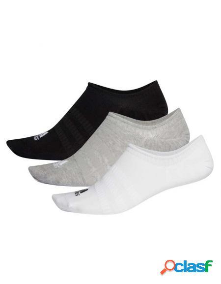 Pack 3 calcetines adidas light nosh blanco/gris/negro - calcetines de padel