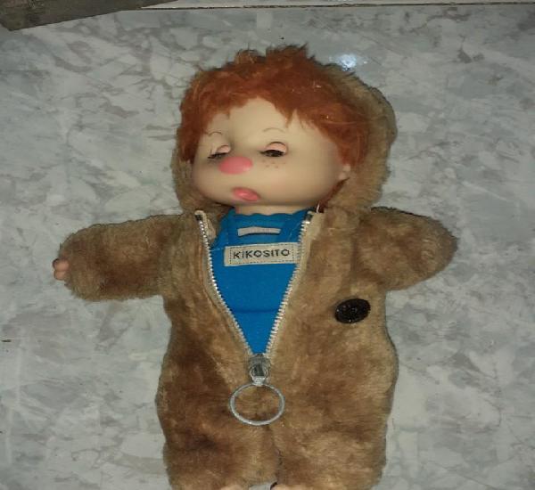 Antigua muñeca kikosito de vir españa con traje oso años