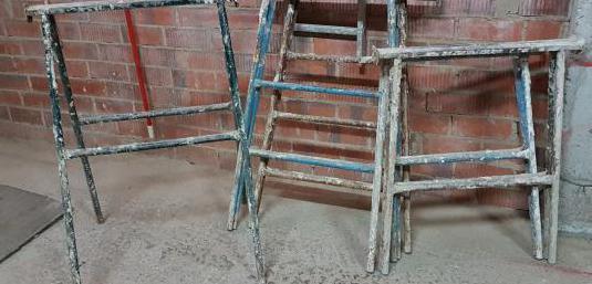 Caballetes de 1m y 0,80m obras de construccion