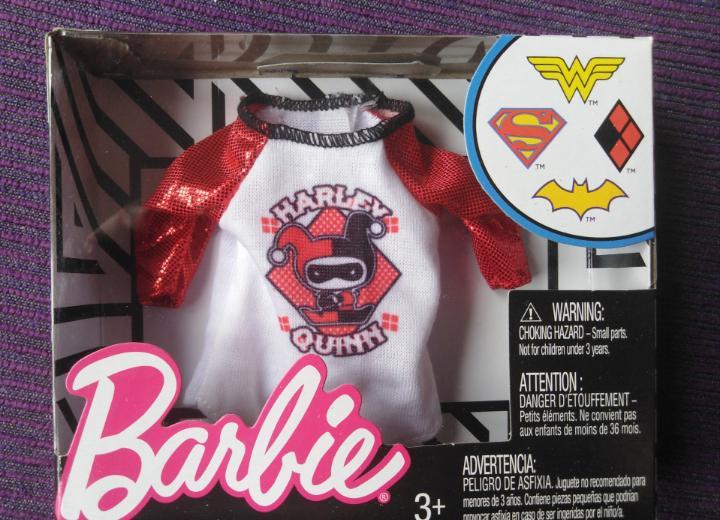 Camiseta barbie harley quinn, dc cómics 2018 descatalogado