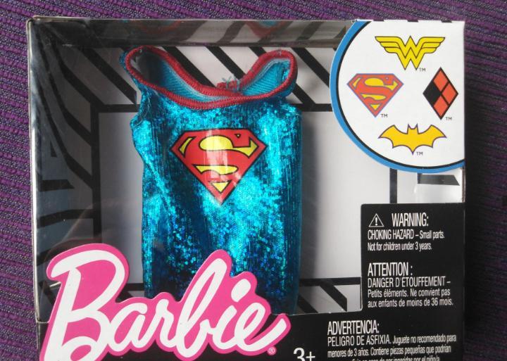 Camiseta barbie superman dc cómics 2018 descatalogado
