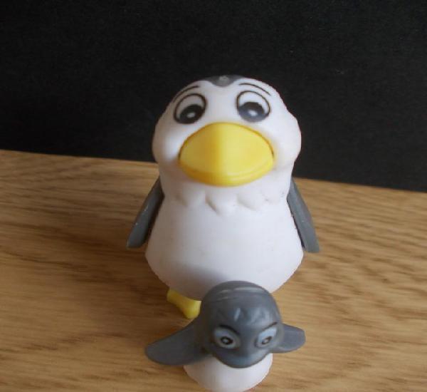 Figura colección huevo kinder k02 nº 44 animal pingüino