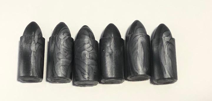 Madelman. 6 balas cañon color gris. reinyectado molde