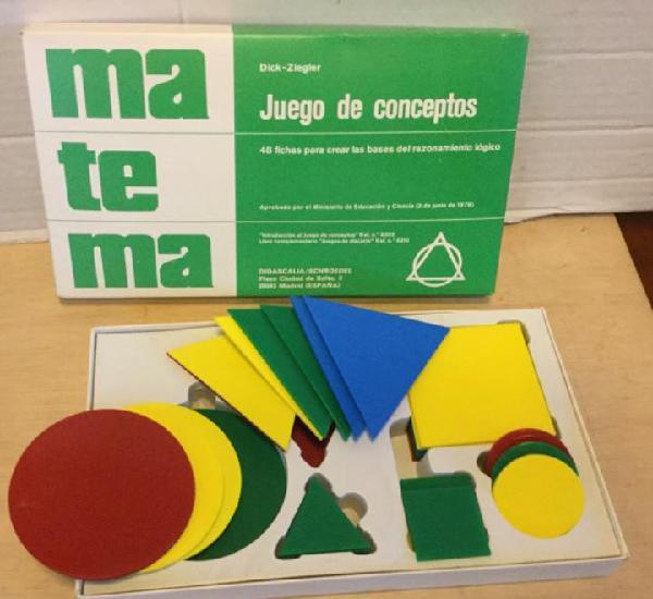 Matemáticas. juego de conceptos. didascalia / schroedel.