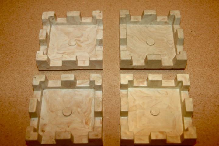 Oferta: 4 almenas cuadradas grandes de exin castillos