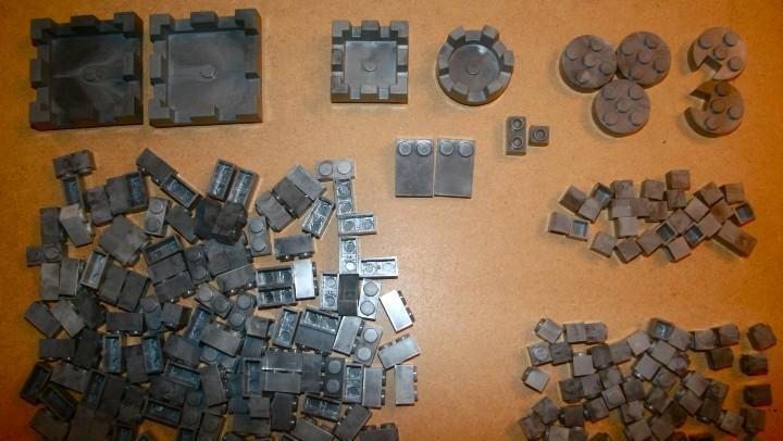 Oferta: lote de piezas grises, popular de juguete, pdj, exin
