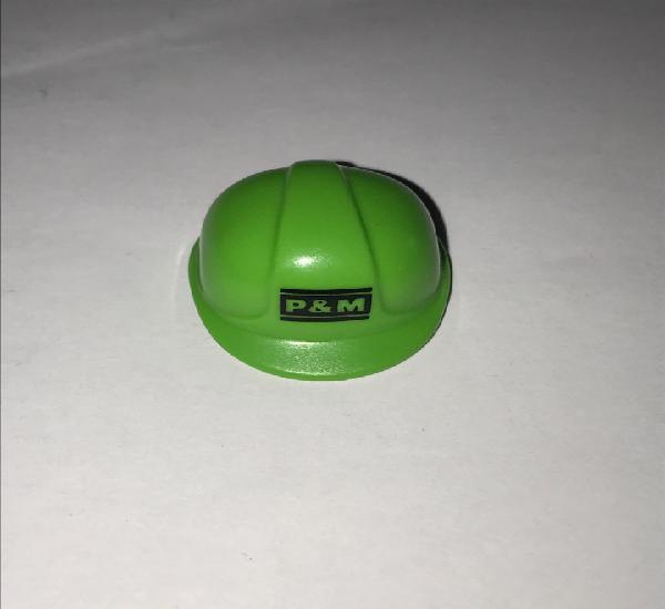 Playmobil casco obra p&m verde