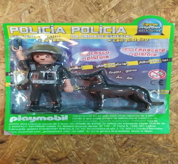 Policia con perro playmobil