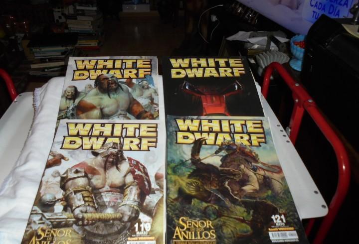 White dwarf 4 revistas nº 118-119-120-121.el señor de los