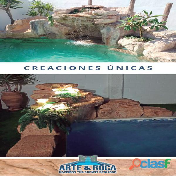 CASCADAS Y ROCAS ARTIFICIALES