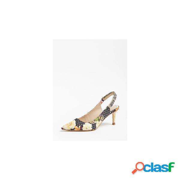 Guess sandalias tacón medio de mujer, talla 40 - fl5dg2fap05 deagal2 multicolor