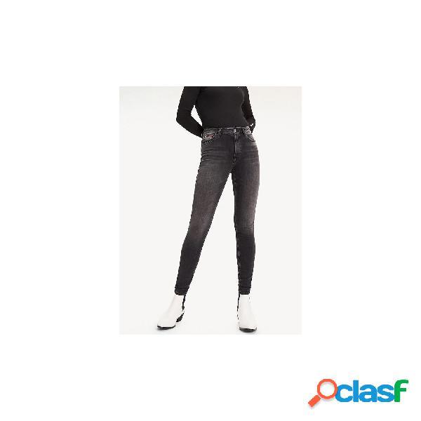 Tommy jeans vaqueros normales de mujer, talla 30 - dw0dw07650 santana high rise skinny jrvbk negro