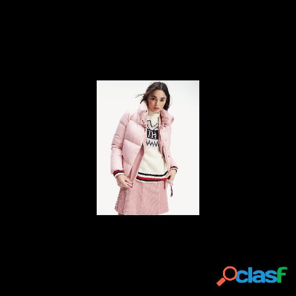 Tommy hilfiger chaquetas abrigo de mujer, talla m - ww0ww25767 pearl down jkt rosa
