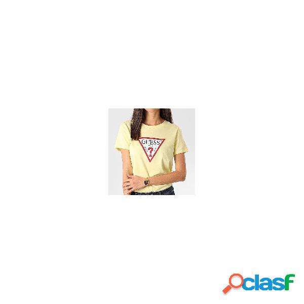 Guess Camisetas De Manga Corta De Mujer, Talla M - W0GI06K8HM0 SS CN TRIANGLE TEE AMARILLO