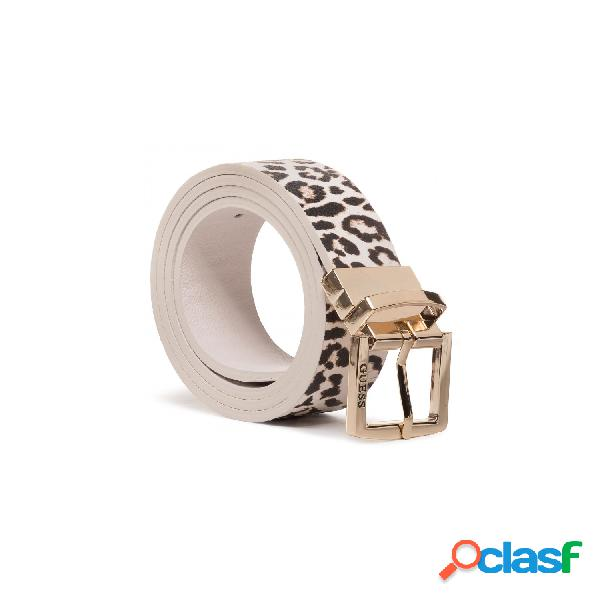 Guess cinturones de mujer, talla m - bw7335vin35 lorenna rev&adjustable pant belt leopard