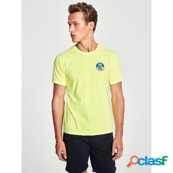 North sails camisetas manga corta de hombre, talla s - 692566 tshirt s/s w/graphic amarillo flúor