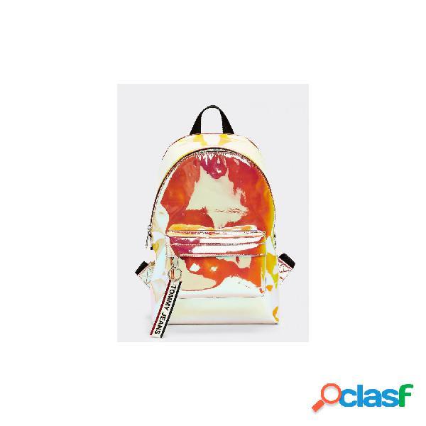Tommy hilfiger mochilas de mujer, talla unica - aw0aw08258 tjw logo tape mini backpack pu salmon