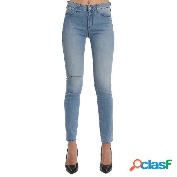Armani exchange vaqueros normales de mujer, talla 30 - 3zyj69y2csz woman denim 5 pockets pant azul jeans
