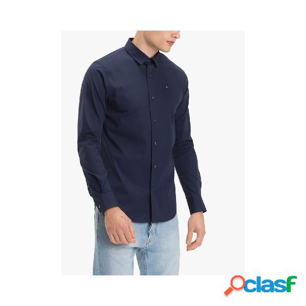 Tommy hilfiger camisas manga larga de hombre, talla m - dm0dm04405 tjm original stretch l/s negro