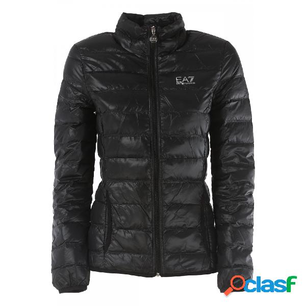 Emporio armani 7 chaquetas finas de mujer, talla m - 8ntb13tn12z woman woven down jacket negro
