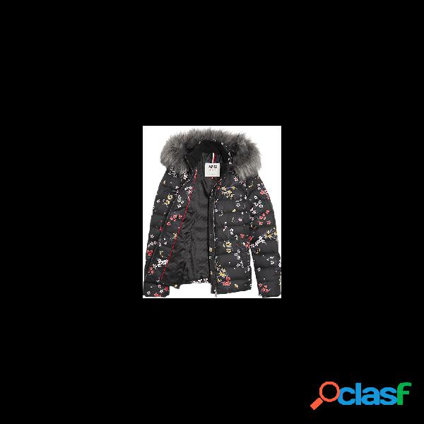 Tommy hilfiger chaquetas abrigo de mujer, talla m - dw0dw07431 tjw florarl hooded down jacket negro