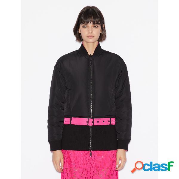 Armani exchange chaquetas abrigo de mujer, talla m - 6gyb28ynqaz woman woven blouson jacket negro